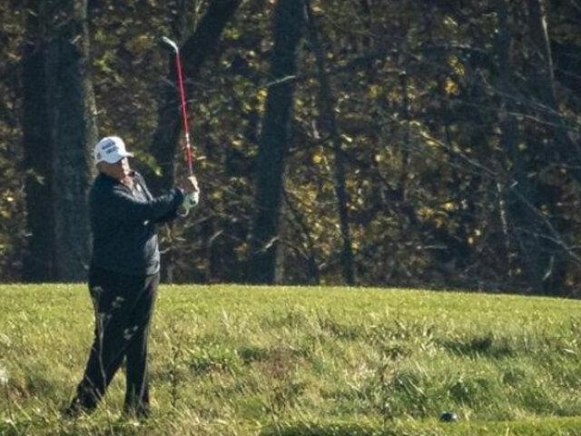 Donald Trump vuelve a jugar golf y sigue sin reconocer su derrota ante Joe Biden