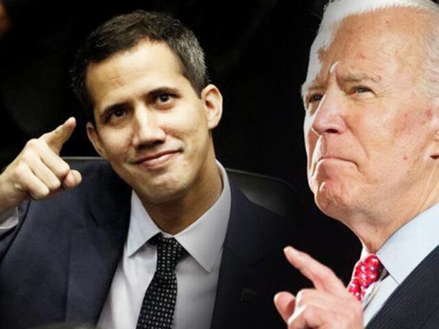 """Juan Guaidó espera el apoyo de Biden para """"liberar"""" a Venezuela"""