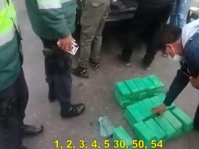 Arequipa: hallan 52 kilos de cocaína camuflados en un vehículo