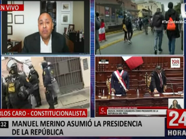 """Carlos Caro: """"este es un gabinete de transición muy parecido al de Paniagua"""""""