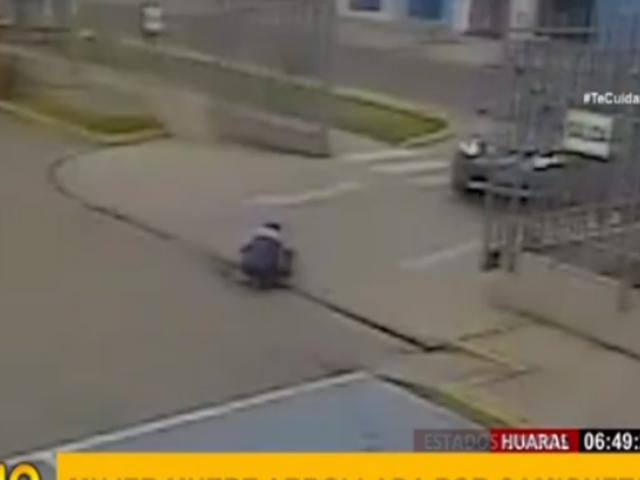 Huaral: cámaras captan terrible atropello que mató a una mujer