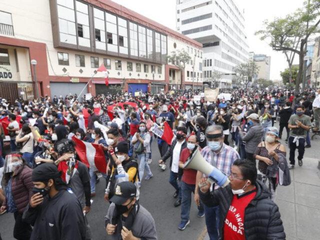Vacancia presidencial: Hoy se realizará marcha nacional contra Manuel Merino