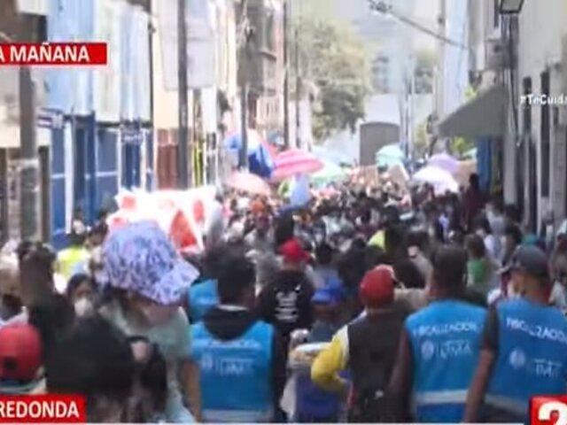 Comercio informal toma más fuerza en Gamarra y Mesa Redonda a pocas semanas de Navidad