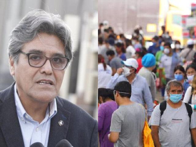 Ministro de Salud, Abel Salinas, advierte que es inminente una segunda ola del coronavirus