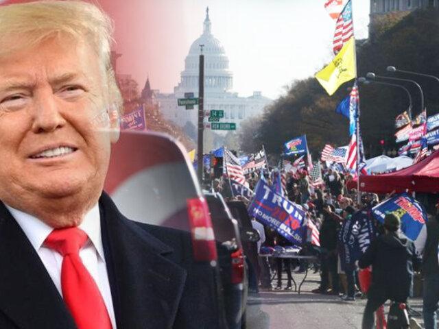 Miles de seguidores de Trump marchan en Washington