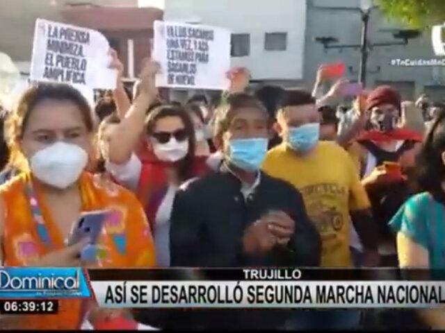 Ciudadanos al interior del país se manifestaron en la segunda Marcha Nacional