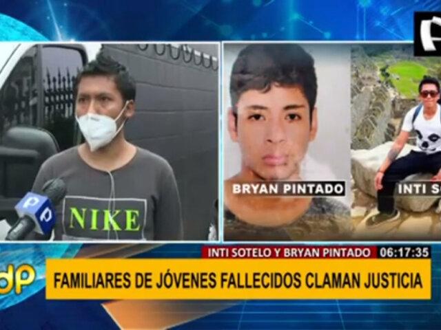 Familiares de Inti y Bryan exigen justicia tras su fallecimiento