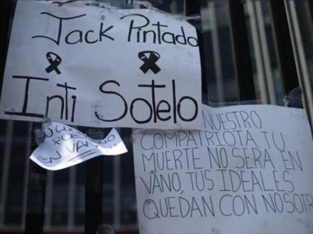 Piura: reconocen a Bryan Pintado e Inti Sotelo como héroes de la democracia