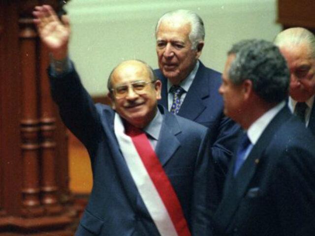 Valentín Paniagua: un día como hoy hace 20 años, asumió el cargo de presidente del Congreso