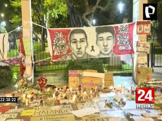 Miraflores: Se realizó vigilia por los dos jóvenes fallecidos en protestas