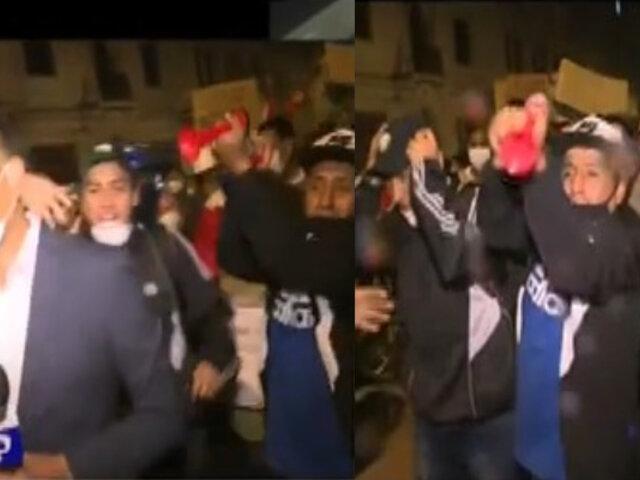 Equipo de Panamericana Televisión sufrió agresión en las manifestaciones del Cercado de Lima