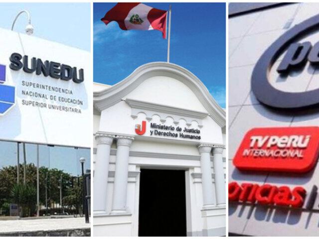 Sunedu, Procuraduría e IRTP serán autónomos, anuncia presidente Francisco Sagasti