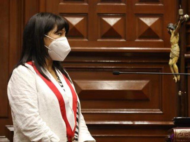 Mirtha Vásquez afirmó que se investigará a Manuel Merino