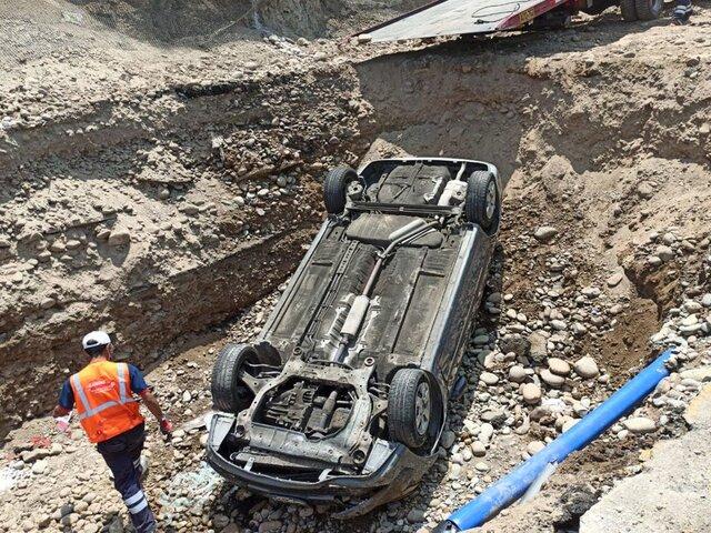 Costa Verde: vehículo cayó en una obra cerca de acantilado