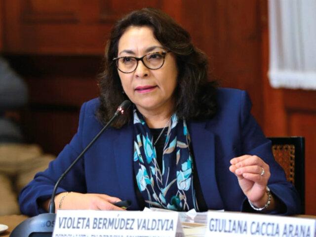 Premier Violeta Bermúdez se reúne con la bancada de Fuerza Popular