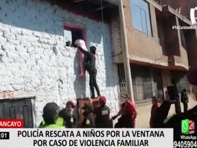 Huancayo: PNP rescata a niños que denunciaron a su padre por violencia familiar