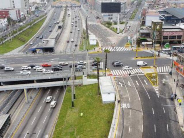 Surquillo: Abren pista auxiliar de la Vía Expresa de Paseo de la República