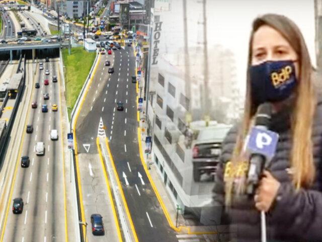 Reabren pista auxiliar ampliada en Paseo de la República