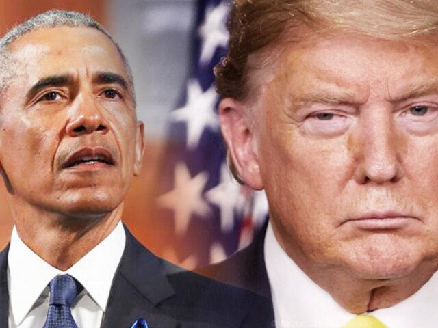 """Barack Obama: """"Trump ha hecho mucho daño en EE UU"""""""