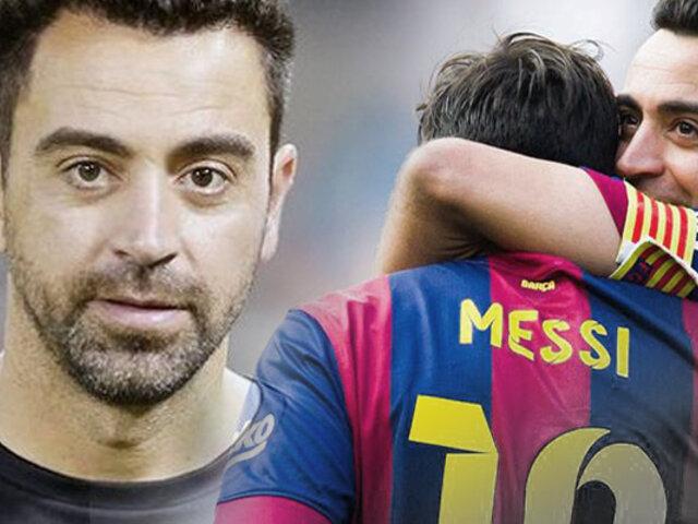 Xavi Hernández quiere que Messi siga en el Barça