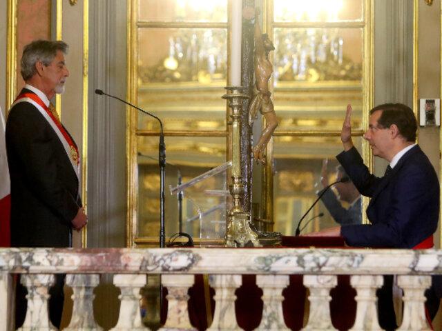 Jaime Gálvez juró como nuevo titular del Ministerio de Energía y Minas