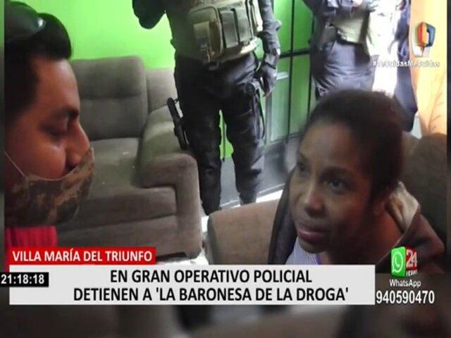 VMT: efectivos de la PNP capturaron a 'La Baronesa de la Droga'