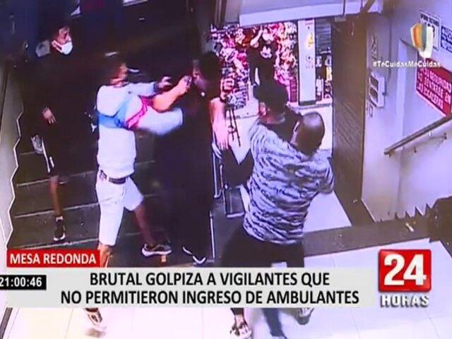 Mesa Redonda: Captan brutal golpiza a vigilantes que no permitieron ingreso de ambulantes