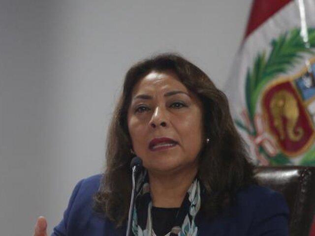 Violeta Bermúdez coordinará diálogo con todas las fuerzas políticas