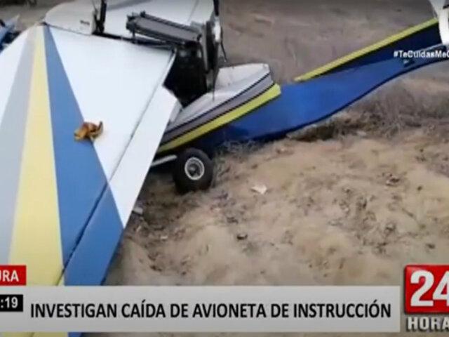 Piura: investigan repentina caída de una avioneta de instrucción