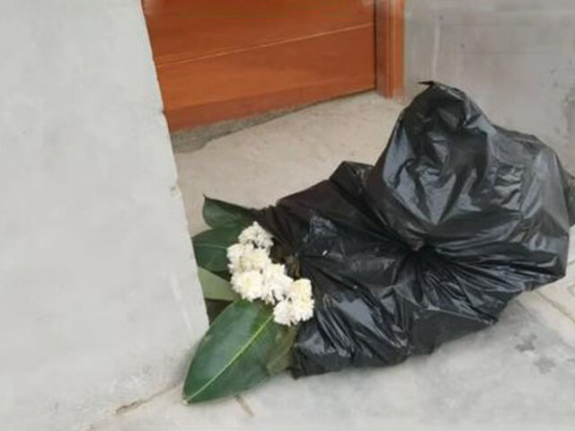 La Libertad: extorsionadores dejan corona fúnebre en vivienda de comerciante