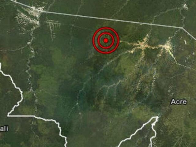 Loreto: sismo de magnitud 4.8 se registró esta tarde en Ucayali