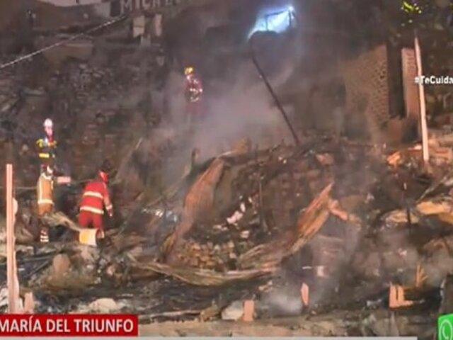 Incendio fuera de control destruye decenas de viviendas en Villa María del Triunfo
