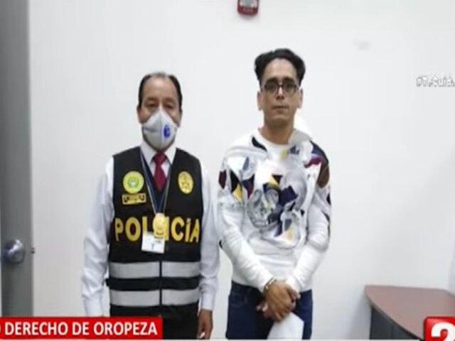 Detienen a Brian Camps, brazo derecho de Oropeza, en el Aeropuerto Jorge Chávez