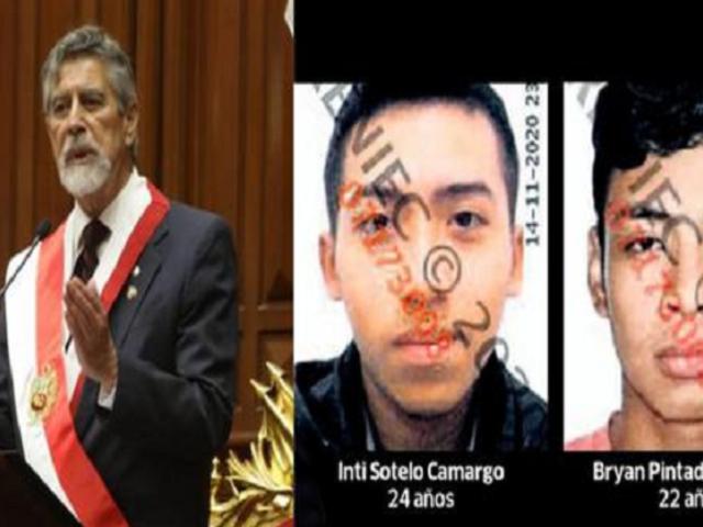 Presidente Francisco Sagasti se reunió con los familiares de Bryan Pintado e Inti Sotelo