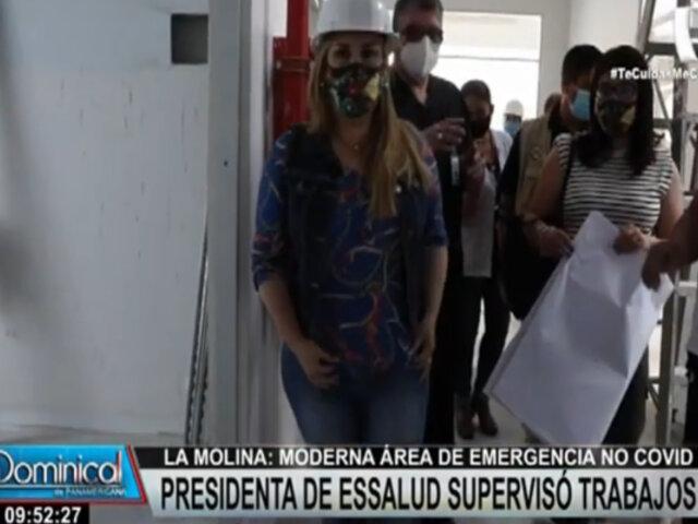 La Molina: supervisan obras en moderna área de emergencia no covid