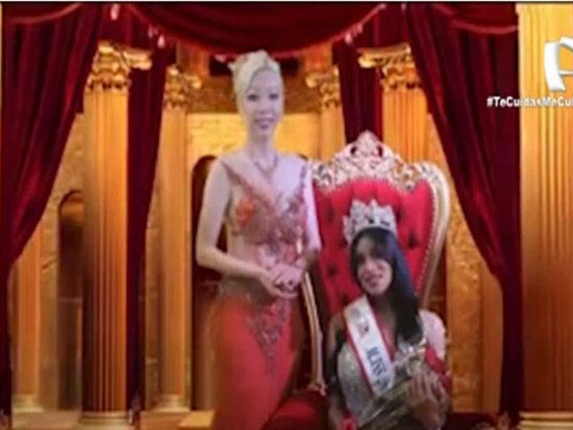 "María Fernanda Bone se coronó ganadora del ""Miss Perú Trans 2020"""