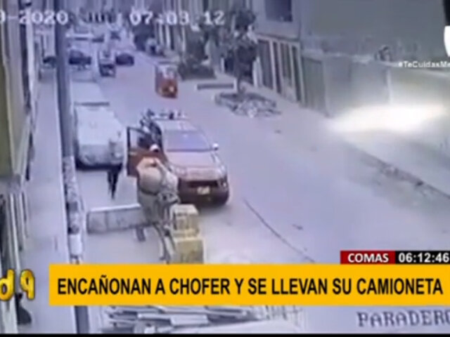 Comas: delincuentes encañonaron a chofer y se llevaron su camioneta