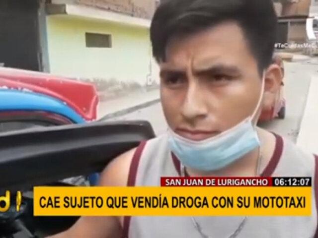 SJL: Policía halló 160 envoltorios de droga en una mototaxi
