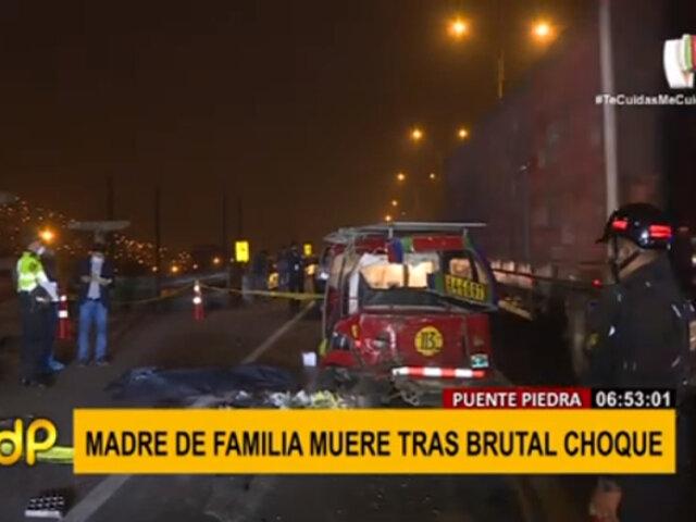 Puente Piedra: madre de familia falleció tras brutal choque