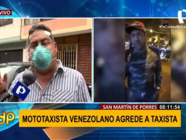 SMP: mototaxista venezolano agredió a taxista