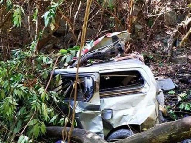 Cusco: al menos seis fallecidos dejó caída de camioneta a abismo
