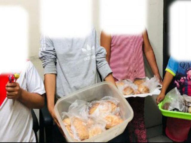 La Libertad: rescatan a cuatro menores que eran obligados a vender en las calles