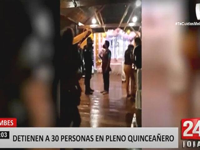 Tumbes: más de 30 invitados de quinceañero fueron detenidos por infringir normas sanitarias
