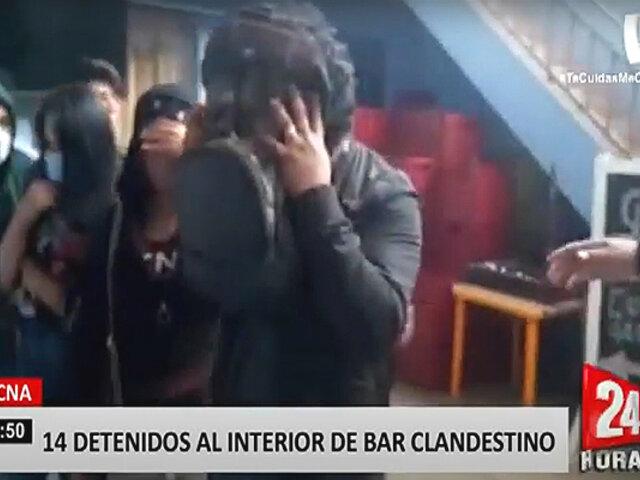 Tacna: intervienen bar clandestino que funcionaba con la fachada de una tienda