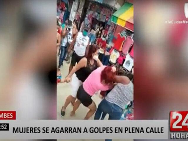 Tumbes: dos mujeres se agarran a golpes por una rivalidad amorosa