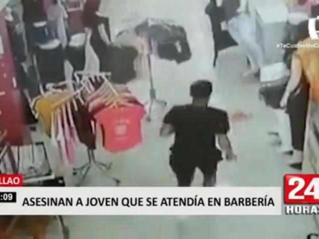Callao: cámara registró asesinato de joven que se atendía en barbería