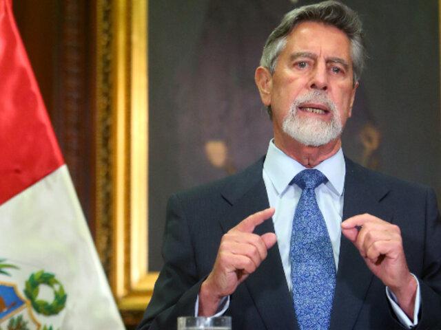 Francisco Sagasti: Grupos que han perdido poder buscan desestabilizar el Gobierno