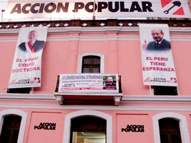 ¿Hay crisis en Acción Popular?