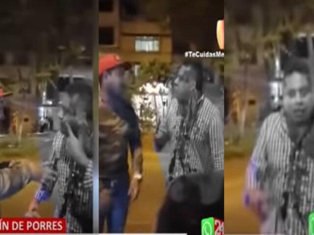 SMP: Taxista terminó ensangrentado tras ser agredido por extranjero