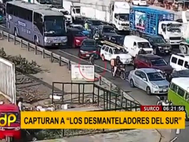"""Surco: PNP capturó a """"Los Desmanteladores del Sur"""""""